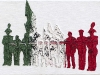 A volte le parole non bastano,  olio e sabbia su tela,  cm. 20x30,  2011