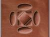 Terracotta, olio su tela, cm. 30x30, 2017