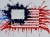 Sulla bandiera americana,  olio su tela,  cm. 70x100,  2009