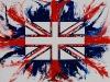Sulla bandiera inglese,  olio su tela,  cm. 70x100,  2009