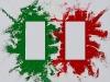 Sulla bandiera italiana,  olio su tela,  cm. 70x100,  2009