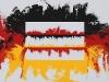 Sulla bandiera tedesca,  olio su tela,  cm. 70x100,  2009