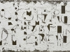 Riflessione,  olio e sabbia su tela,  cm. 35x60,  2010