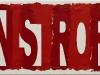 Sinistrorsi, olio su tela,  cm. 20x50,  2010