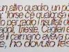 Sui ballottaggi, olio su tela, cm.70x200,  2011