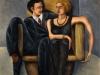 La coppia,   olio su tela,  cm. 125x125,  1996