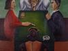 La doppia coppia,   olio su tela,  cm. 125x125,  1996