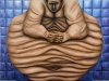 Il grassone,   olio su tela,  cm. 125x125,  1996