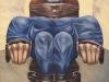 Sulla sedia elettrica,   olio su tela,  cm. 125x125,  1996
