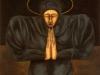 La santa,   olio su tela,  cm. 125x125,  1997