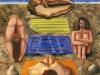 Le bagnanti, seconda versione,   olio su tela,  cm. 125x125,  1996