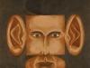 Autoritratto nell'ok,   olio su tela,  cm. 125x125,  1996