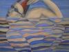 Il nuotatore,   olio su tela,  cm. 125x125,  1996