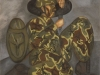Il soldato,   olio su tela,  cm. 125x125,  1996