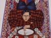 Autoritratto allo specchio,   olio su tela,  cm. 200x150,  1997