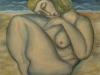 Nudo sulla spiaggia,   olio su tela,  cm. 125x125,  1996