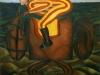 Il fantino,   olio su tela,  cm. 125x125,  1996