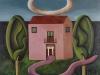 La casa dov'è?,   olio su tela,  cm. 125x125,  1996