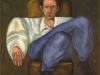 L'uomo posato,   olio su tela,  cm. 125x125,  1996
