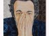 Mi difendo con le mie mani e ti guardo negli occhi, olio su tela, cm.60x40, 2020