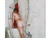 Nudo nella vasca, olio su tela cm. 60x40, 2019