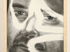 Autoritratto con ok,  olio su tela, legno,   cm. 27x19,  2005