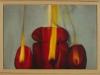 OK candela,  olio su tela, legno,   cm. 57x27,  2005