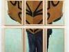 Faccia da cubo,  olio su tela, legno,   cm. 110x61,  2005