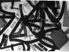 Tappabuchi (particolare), oggetti su stoffa serigrafata,  dimensini variabili,  1993, Castello di Rivara, (TO)