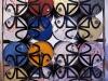 32 bidoni : 1 scultura = 1 bidone : X (scorcio), serigrafia su bidoni metallici, cm. 240x240x180,  1993,  Studio Stefania Miscetti, Roma.