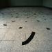 Disintegration (particolare),  adesivo su pavimento,  dimensioni variabili,  1993,  Scuola G.Carducci,  Roma
