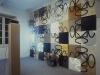 Terra-terra con proiettori,  veduta dell'installazione,  dimensioni variabili,  1994, Galleria Alfonso Artiaco, pozzuoli (NA)
