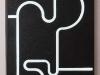 G.P. - legno, asfalto, plexiglass, neon - cm. 145x105x12 - 1990