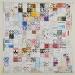 Diario, carta e legno, cm.156x156, 2012