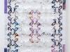 Tappetino, carte fotocopiate, stagnola, legno, cm. 70 x 50, 2017