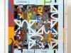 Origami, carte fotocopiate, legno, plexiglass, cm. 21 x 21 x 9,5, 2017
