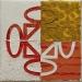 Divano arancione,  olio su tela,  cm. 20x20,  2009