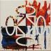 A mosaico,  olio su tela,  cm. 30x30,  2010
