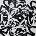 ok-logo-texture, olio su tela, cm. 40x40, 2011
