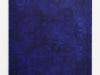Blu, olio e sabbia su tela, cm.100x70, 2018