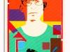 Autoritratto - Face to Face, acrilico su tela, cm. 50x30, 2017