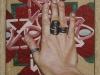 la mano di luisa,  olio su tela, legno, cm. 17x20,  2004