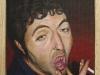 Nico,  olio su tela, legno, cm. 17x20,  2004