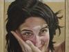 Luisa,  olio su tela,legno,  cm. 17x20,  2004