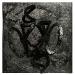 scontro nero, olio su fibbra di resina su tela, cm 75x75, 2016