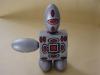 I personaggi OK:  robotok,  gesso dipinto,  cm. 24x24x12,  2000