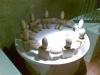 lampada chanukkah,  legno, cera,  H. cm. 26, diam. cm. 94,  2007