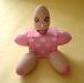I personaggi OK: la bebè,  gesso dipinto,  cm. 24x12x18,  2000