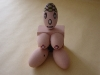 I personaggi OK: dolce tettona,  gesso dipinto,  cm. 24x20x12,  2000