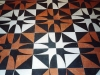 Senza soluzione di continuità, Pavimento  in marmo (particolare), intarsio di marmi policromi,  cm. 240x240, 2001